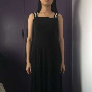 Black maxi dress/ long gown (sheer cloth)