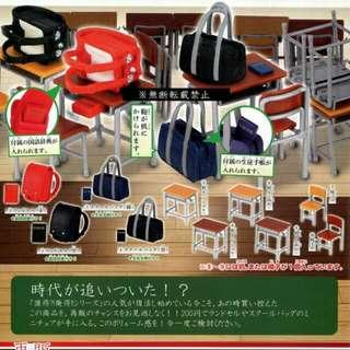 全館免運中!!學校系列書包書桌 椅子 轉蛋 扭蛋 療癒小物 日本高校側背包