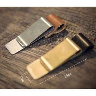 Oui.abi Midori Brass Leather Pen holder
