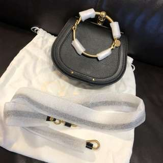 Chloe 黑色細size Nile bracelet bag cholé