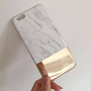 FREE marble/gold iPhone 6+ case