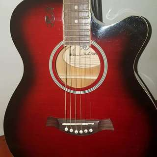 Maroon Acoustic Guitar