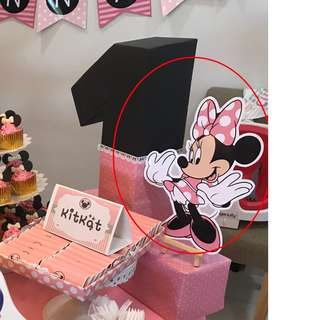 Minnie mouse Party Decoration  with stand (Jurong)
