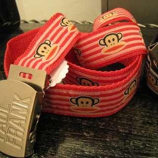 Paul Frank 可愛紅色皮帶