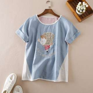 Japanese Doll Embroidery Top