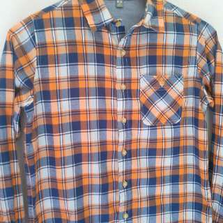 Uniqlo tartan long sleeved shirt