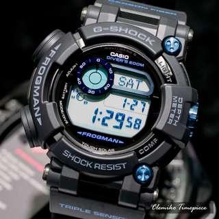 "Casio G-Shock Frogman 國際版 ""GWF-D1000B-1DR""( G-SHOCK MASTER OF G FROGMAN 蛙王 /電波受信機能/TOUGH SOLAR/GWF-D1000B-1/藍釘)(可簽卡/可分期/現金交易)12/24"