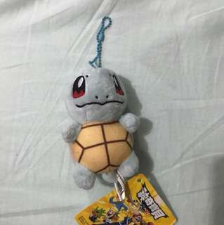 Squirtle soft toy, key chain