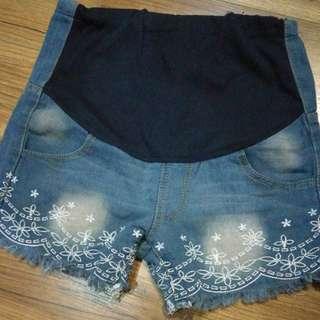 Maternity jeans shorts pants 2 pieces