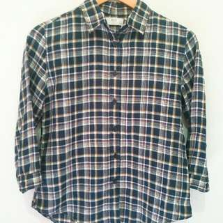 Uniqlo tartan long sleeved shirt (3/4)