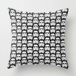 Stormtrooper on Black Throw Pillow Cushion Cover