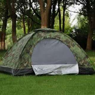 2 person waterproof outdoor tent (camouflage)
