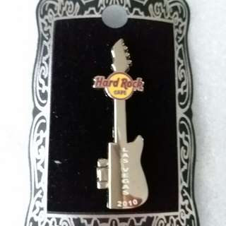 Hard Rock Cafe Pins ~ LAS VEGAS HOT 2010 INK BLOT SKULL GUITAR PIN!