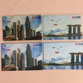 Limited Edition brand new UOB Bank SG52 Set Of 2 nets Flash Pay Cards For $200.