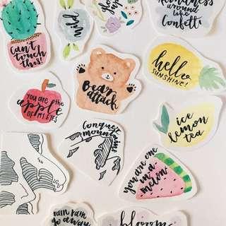 Hand drawn Laptop Stickers