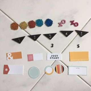 Scrapbook Accessories Set 2 Scraptastic Club Paper Market