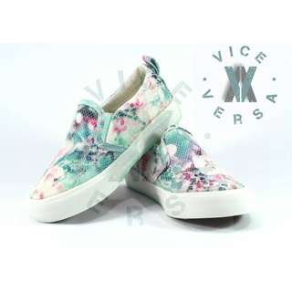 Girls Lace Shoes (Turquoise + White)