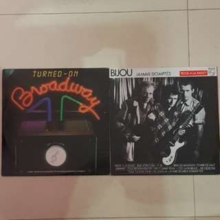 "12"" vinyl record 2 for $18"