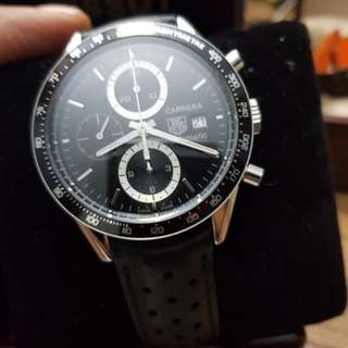 Tag Heuer Carrera Chrono black Leather