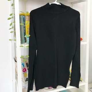 Black half neck top for winter/spring