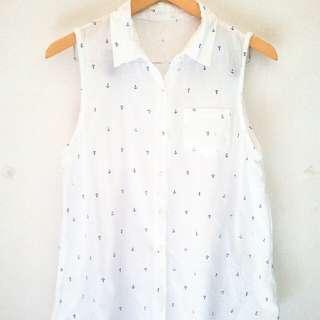 NN anchor pattern shirt