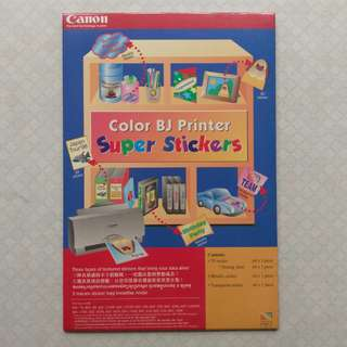 Canon Sticker Paper Color BJ Printer