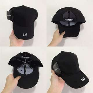 "INSTOCKS Black ""Vetements"" Baseball Cap"