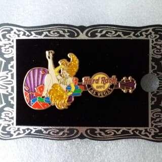 Hard Rock Cafe Pins ~ LAS VEGAS HOT 2012 CORE SHOWGIRL GUITAR PIN!