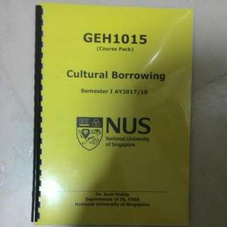 Geh1015 Cultural Borrowing Course Pack