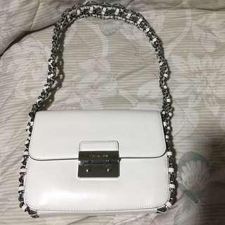 Michael Kors flap shoulder bag optic white