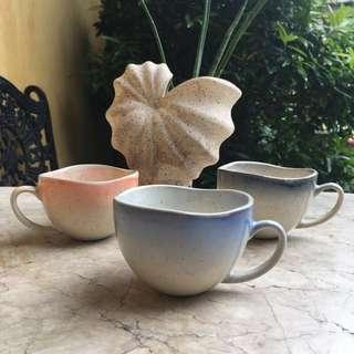 Ceramic coffee cups, mugs or teacups Seashore Collection B