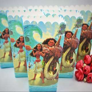 🌺 Moana party supplies - Moana popcorn boxes / candy bar deco / party deco