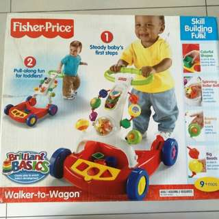 Fisher price walker on wagon