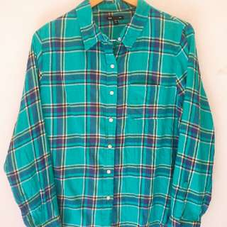 GAP tartan long sleeved shirt