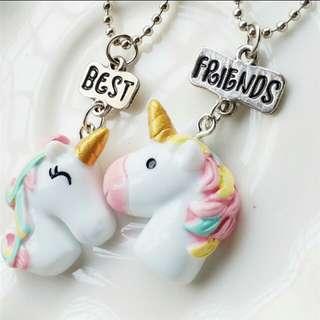 🚚 Unicorn Friendship Necklace BFF Chain Best Pendant Little Horse #EndGameYourExcess