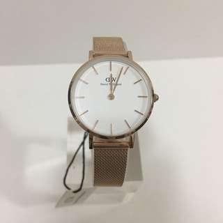 DW玫瑰金鋼錶32mm