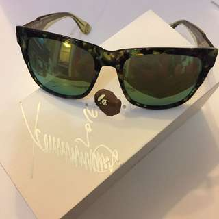A bathing ape sunglasses with 古天樂 signature