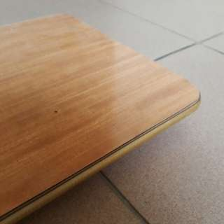 vintage table top w formica top and gold metal edging