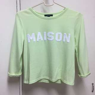Forever 21 Pastel Green Long Sleeves