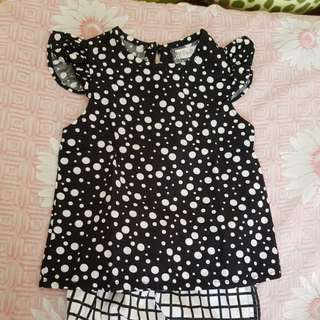 Baby polka dots terno very cute ootd fashionista infant