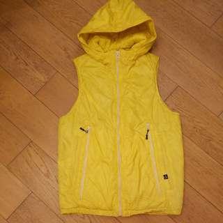 黃色棉背心外套