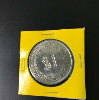 Singapore 1977 $1 lion coin — final clearance sales