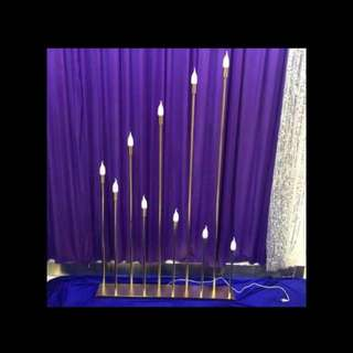 Rental of 10 Lights Stand for Wedding Pelamin Decor