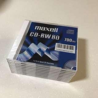 Maxwell CD-RW 700MB DISCs x 9