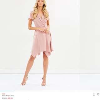 Pale pink office dress