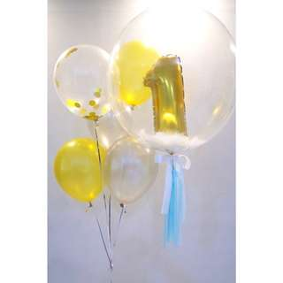 Baby first month balloon