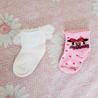 Baby socks minnie mouse pink casual baptism white socks