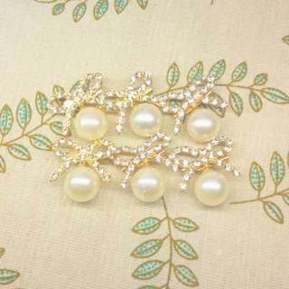 (全部all) Bow & pearl Brooches