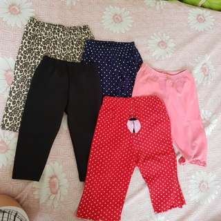 Baby leggings 5 pieces sold as set 3-12m