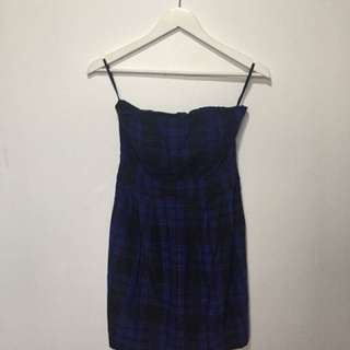 Ben Sherman blue plaid dress